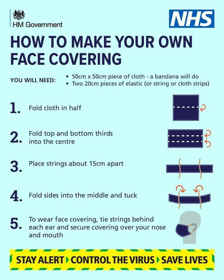 Facecover instructions